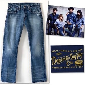 DENIM & SUPPLY RALPH LAUREN DISTRESSED JEANS 31 32